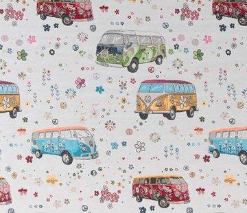 Decostoffen Volkswagen hippie bus jacquard