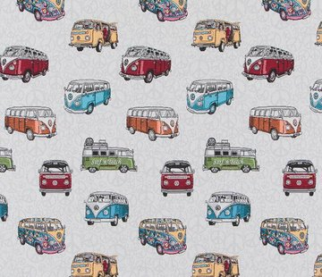 Decostoffen Volkswagen bus jacquard