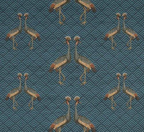Decostoffen Vogel jacquard meubelstof