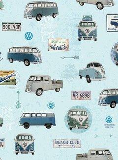 Volkswagen licht blauw - gobelin