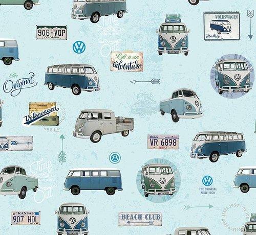 Decostoffen Volkswagen licht blauw - gobelin