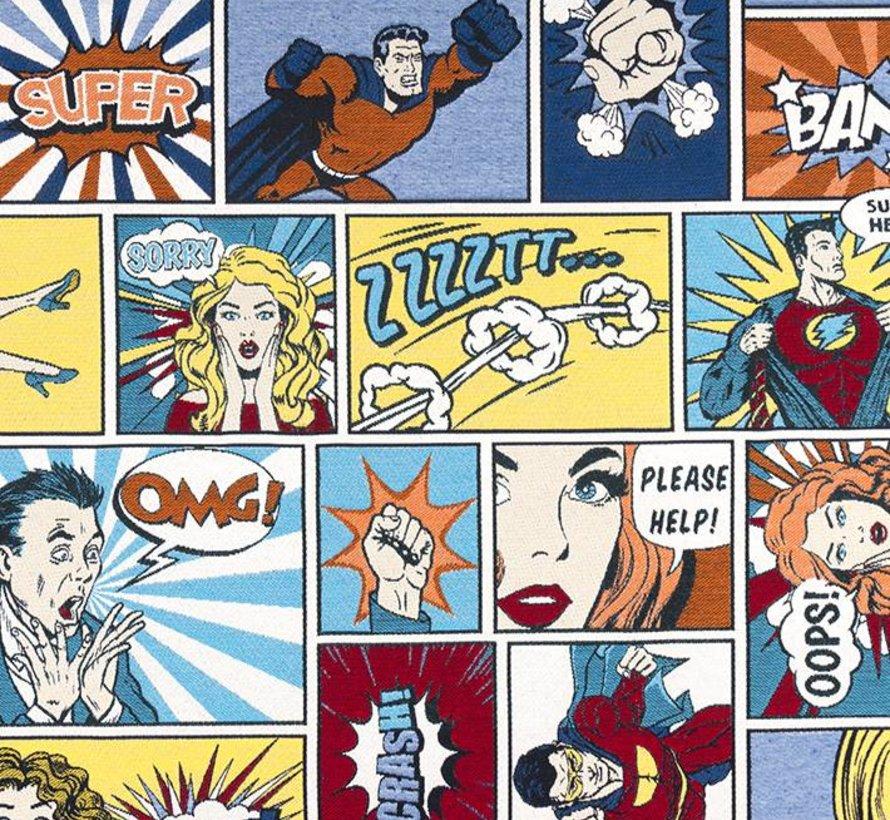 Stripfiguren jacquard meubelstof