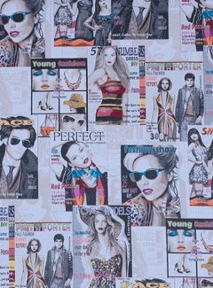 Decostoffen Rock & roll magazines jacquard