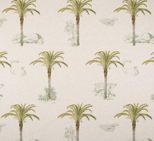 Decostoffen Tropische palmbomen linnenlook stof