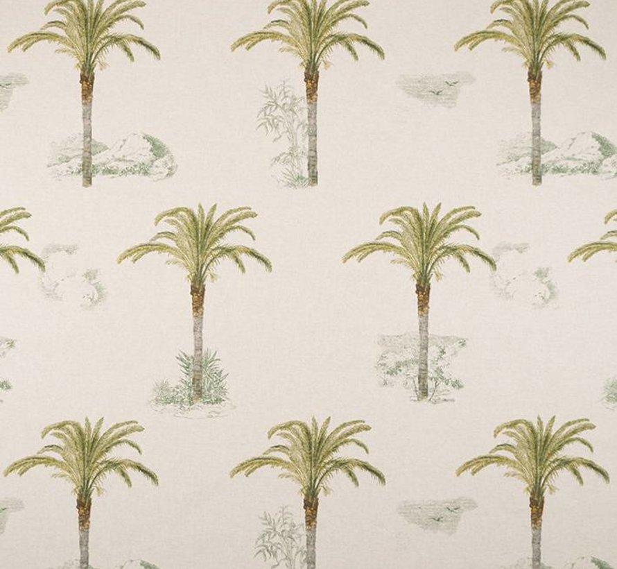 Tropische palmbomen linnenlook stof