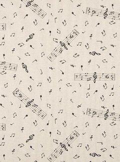 Muzieknoten g-sleutel linnenlook