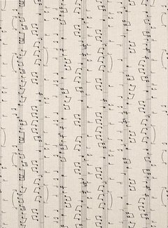 Muzieknoten linnenlook
