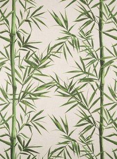 Decostoffen Bamboe linnenlook