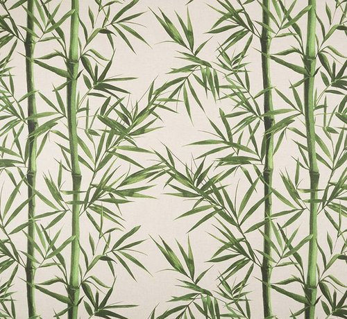 Decostoffen Bamboe linnenlook stof