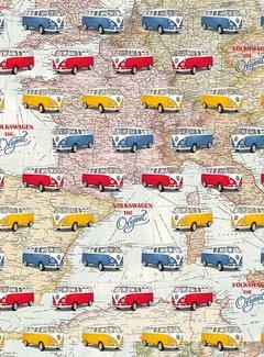 Decostoffen Volkswagen busjes gobelin