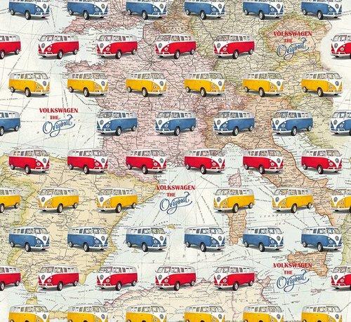 Decostoffen Volkswagen busjes gobelin stof