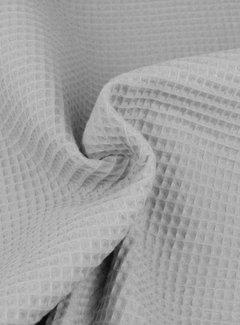 Decostoffen Lichtgrijs - wafeldoek klein