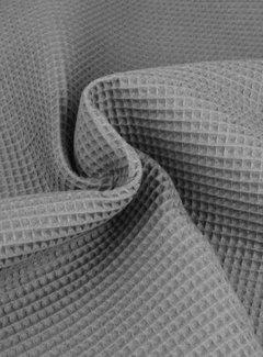 Decostoffen Donkergrijs - wafeldoek klein
