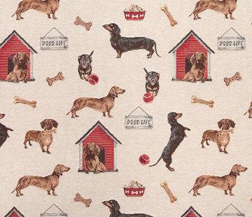 Decostoffen Honden - gobelin economy