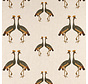 Kraanvogels linnenlook stof