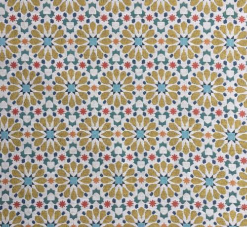 Decostoffen Bloemen design geel - gobelin