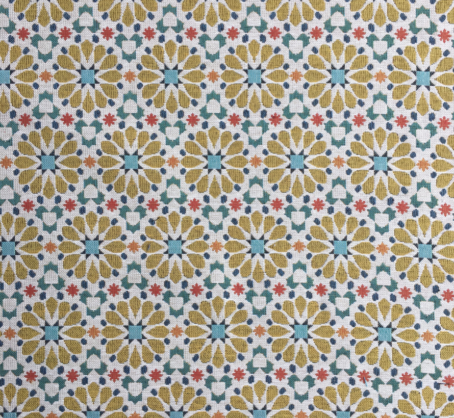 Bloemen design geel - gobelin