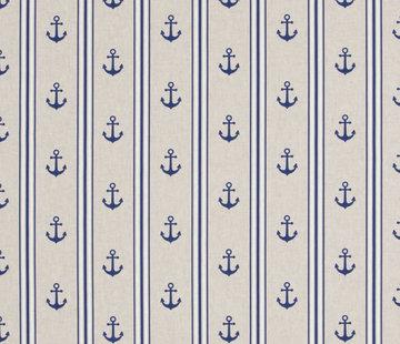 Maritiem ankers met strepen linnenlook