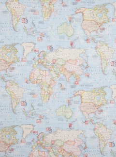 Decostoffen Wereldkaart ottoman
