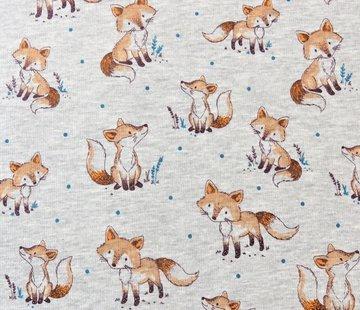 Decostoffen Fox licht grijs - alpen sweat