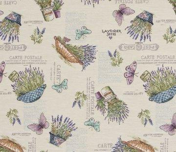 Decostoffen Lavendel bloemen - gobelin