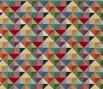 Decostoffen Geometrisch multi color groot - gobelin