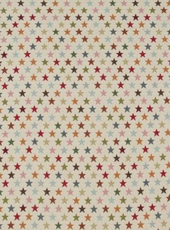 Decostoffen Multi color sterren klein - gobelin
