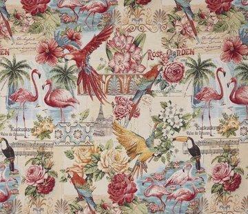 Flamingo/toekan - gobelin