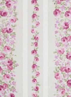 Roze rozen - ottoman print