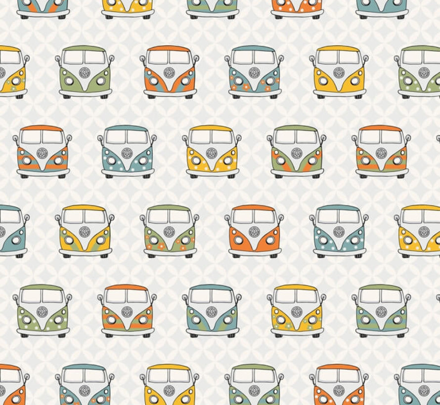 Retro volkswagen busjes - ottoman print