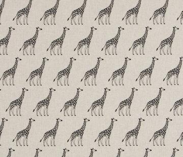 Decostoffen Giraffe linnenlook