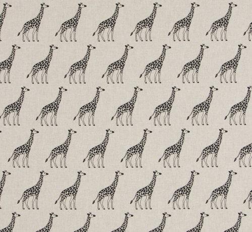 Decostoffen Giraffe op linnenlook stof