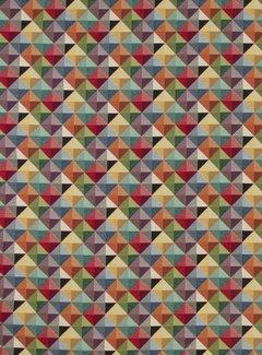 Decostoffen Geometrisch multi color klein - gobelin