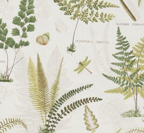 Decostoffen Natuur planten - ottoman print
