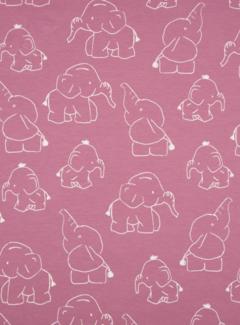 Olifanten oud roze - tricot / jersey