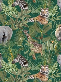 Decostoffen Jungle dierenprint - digitale print