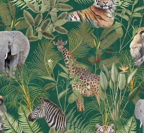 Decostoffen Jungle dierenprint - digitale print