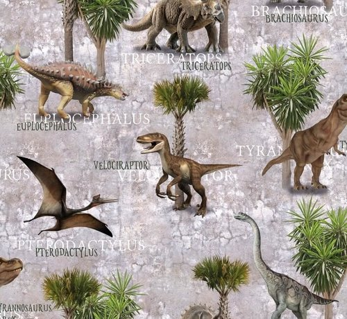 Decostoffen Dinosaurus - digitale print