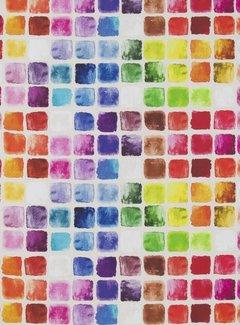 Decostoffen Geometrisch kleurrijk digitale print