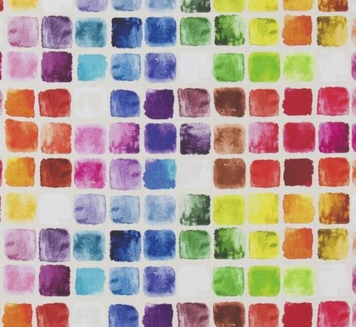 Decostoffen Geometrisch kleurrijk digitale print stof