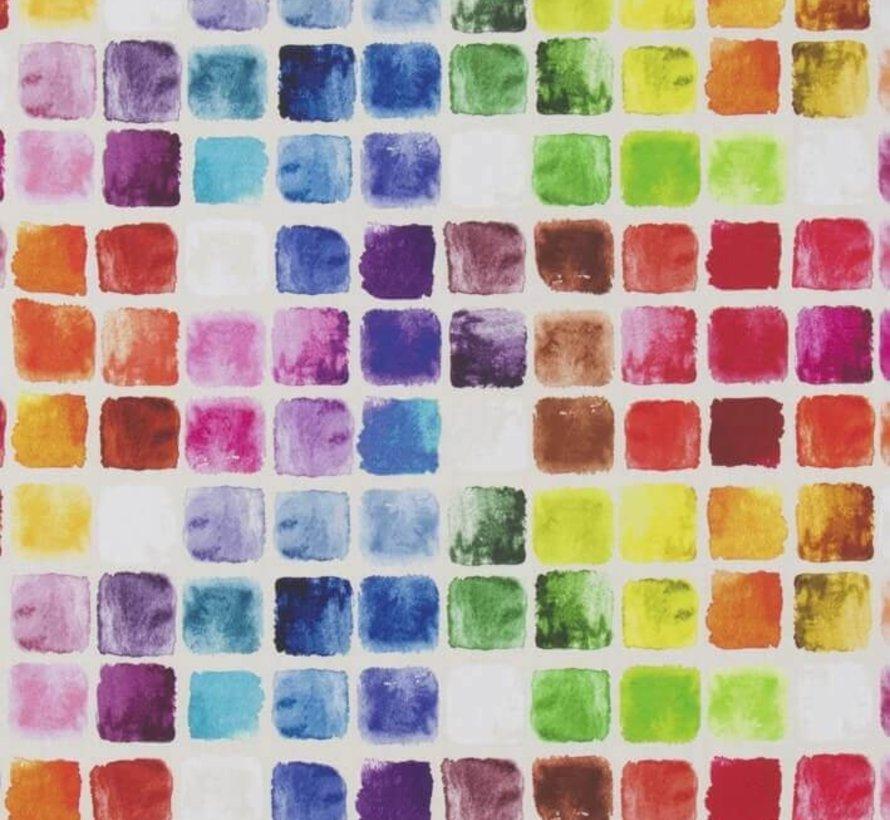 Geometrisch kleurrijk digitale print stof