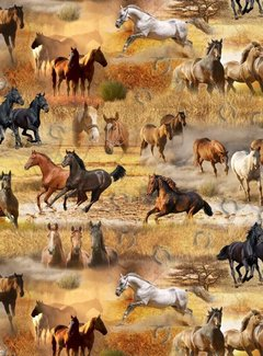 Decostoffen Paarden digitale print