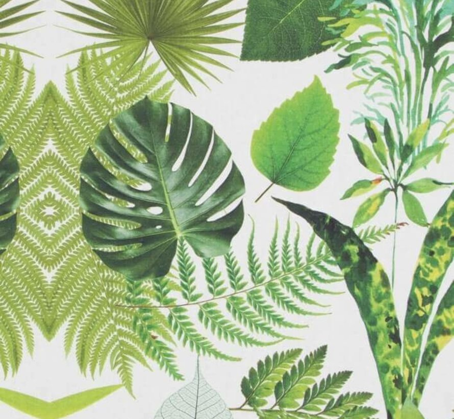 Palmbladeren digitale print stof