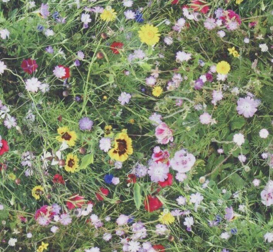 Bloemen gras digitale print stof