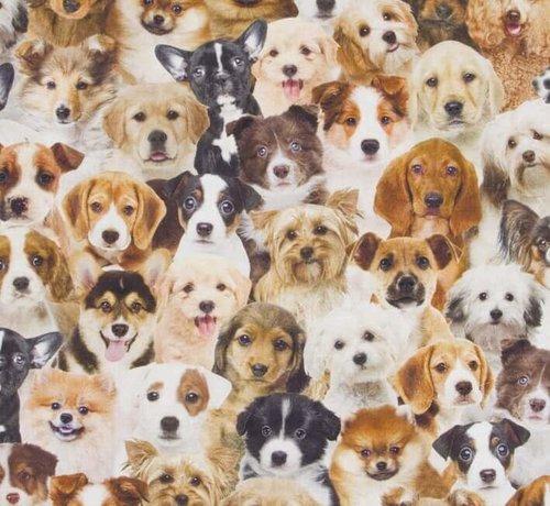 Decostoffen Honden digitale print stof
