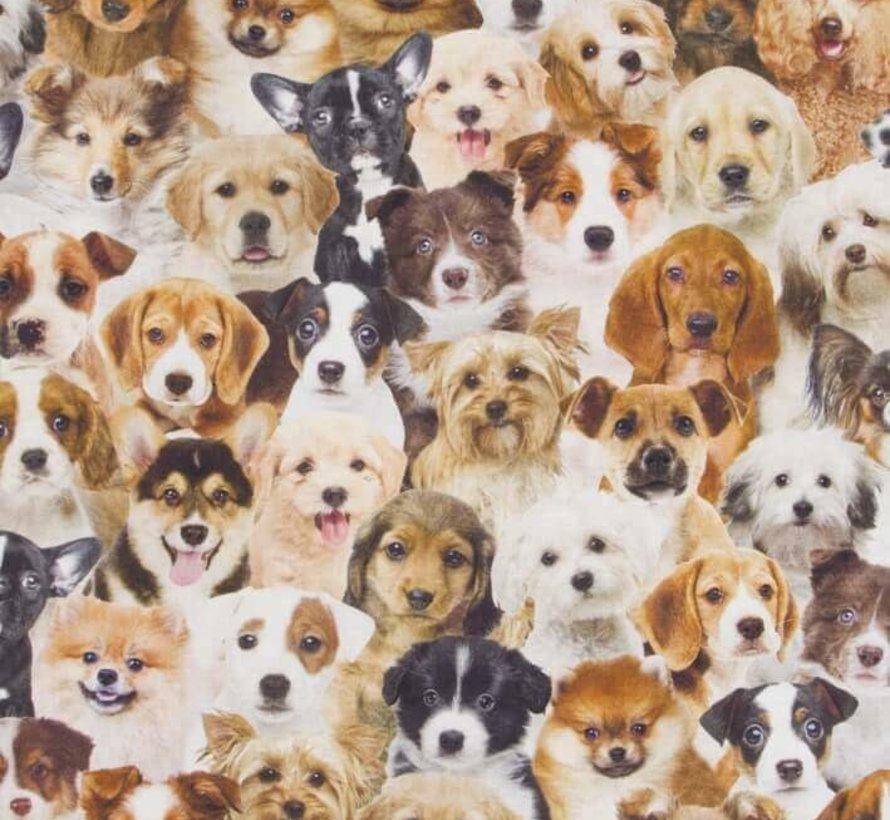 Honden digitale print stof