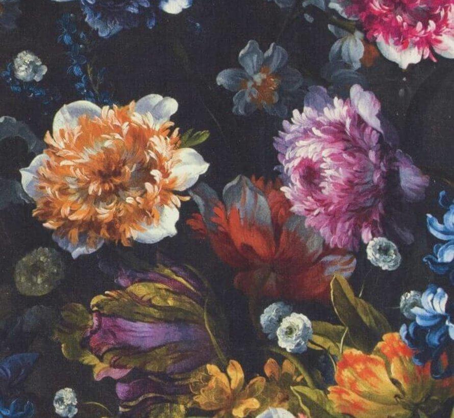 Gekleurde bloemen digitale print stof