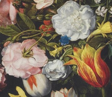 Bloemen en tulpen digitale print