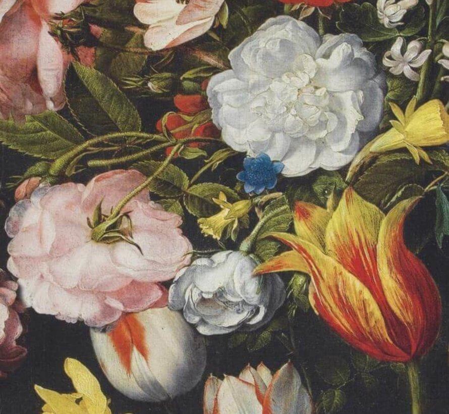 Bloemen en tulpen digitale print stof