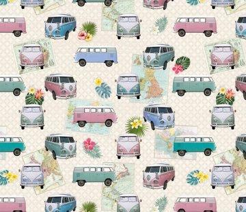 Volkswagen busjes - digitale print